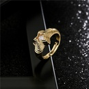 bohemian geometric multilayer fivepointed star zircon ring  NHFMO368043