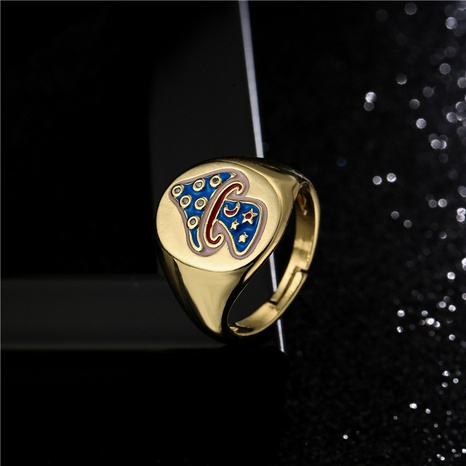 fashion 4-color dripping oil fish shape geometric opening ring  NHFMO368046's discount tags