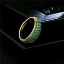 fashion copper microinlaid multirows zircon geometric open ring NHFMO368049