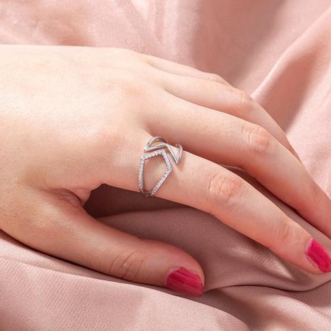 fashion micro-inlaid zircon geometric hollowed rings  NHAN368059's discount tags