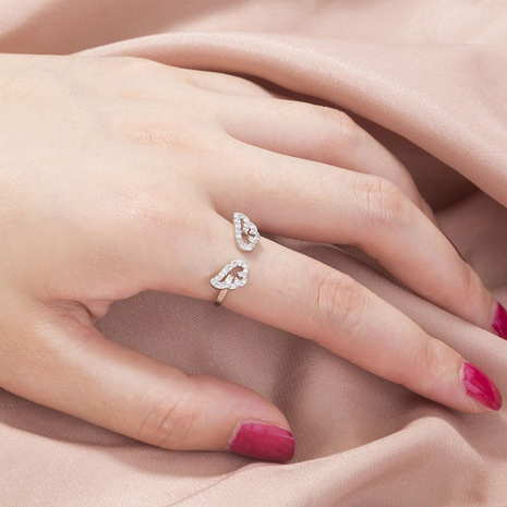 fashion micro-inlaid zircon wings opening adjustable ring NHAN368083's discount tags