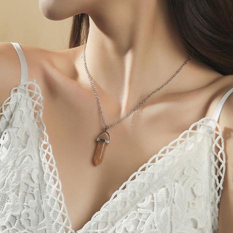 Mode geometrische Naturstein Anhänger Halskette NHLA368092's discount tags