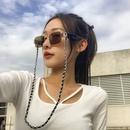 fashion geometric singlelayer PU glasses chain  NHXR368161