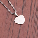 New simple stainless steel goldplated heartshaped pendant necklace NHYL368170