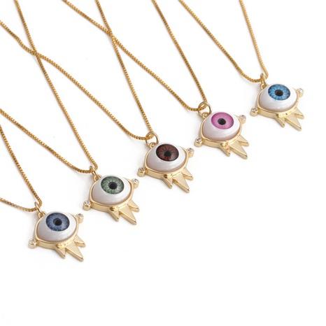 Collar Colgante De Circón De Cobre Goteo Evil Eye al por mayor NHYL368173's discount tags