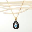 fashion demon eye water drop pendant multicolor necklace  NHGO368227