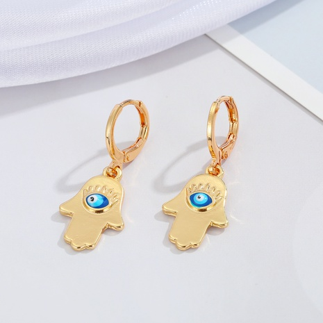 pendientes de metal de ojo de diablo de palma de moda al por mayor NHGO368230's discount tags