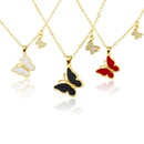new butterfly pendent copper inlaid color zirconium necklace NHBP368238
