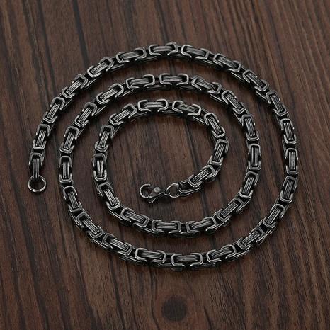 Retro-Edelstahl dickes Chian-Halskettenarmband Großhandel NHHF368241's discount tags