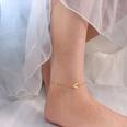 NHOK1705781-S114-golden-texture-paper-airplane-anklet-20+5cm