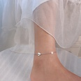 NHOK1705782-S114-steel-texture-paper-airplane-anklet-20+5cm