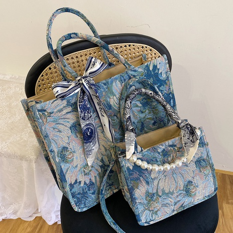 new flower embroidered large capacity handbag wholesale  NHLH368314's discount tags