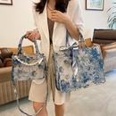 new flower embroidered large capacity handbag wholesale  NHLH368314