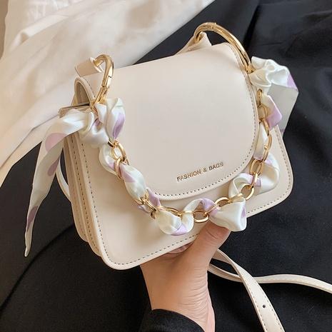 fashion silk scarf decor chain portable messenger small square bag NHLH368363's discount tags