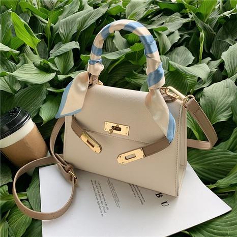fashion buckle silk scarf decor single shoulder messenger bag  NHLH368364's discount tags