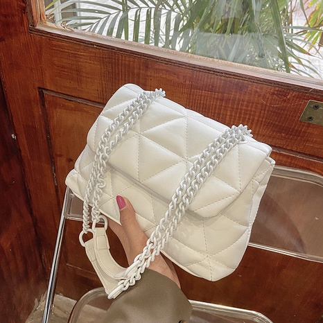 fashion style solid color rhombic embroidered thread handbags   NHLH368365's discount tags