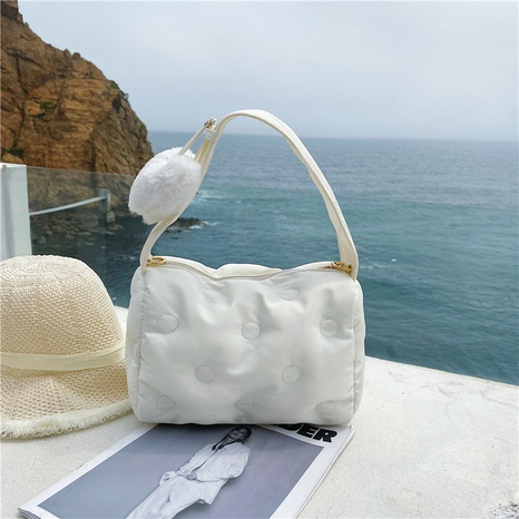 fashion cotton clothes texture one-shoulder messenger small square bag NHLH368369's discount tags