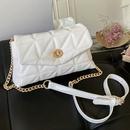 fashion rhombus embroidered thread chain lock small square bag NHLH368370