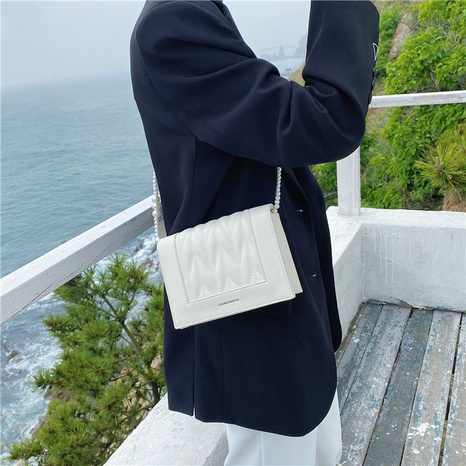 Korean style embroidery thread pearl chain one-shoulder messenger Small square bag  NHLH368374's discount tags