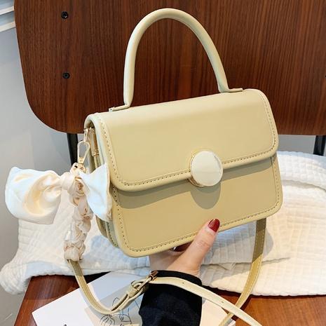retro silk scarf pure color shoulder messenger small square bag  NHLH368375's discount tags