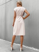 Fashion solid color button Vneck sleeveless dress NHDE368438