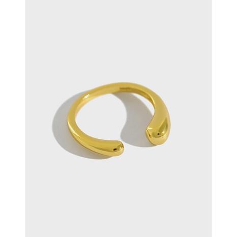 Koreanischer S925 Sterling Silber Wassertropfen glänzender Ring NHFH368505's discount tags