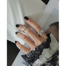 simple irregular fold texture S925 sterling silver ring wholesale NHFH368511