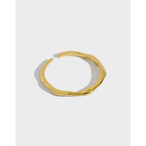 Koreanischer S925 Sterling Silber dünner Ring mit unregelmäßiger Oberfläche NHFH368514's discount tags