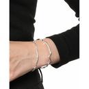 Korean style irregular line texture silver bracelet  NHFH368531