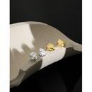 Korean irregular concaveconvex lava S925 sterling silver earrings NHFH368534