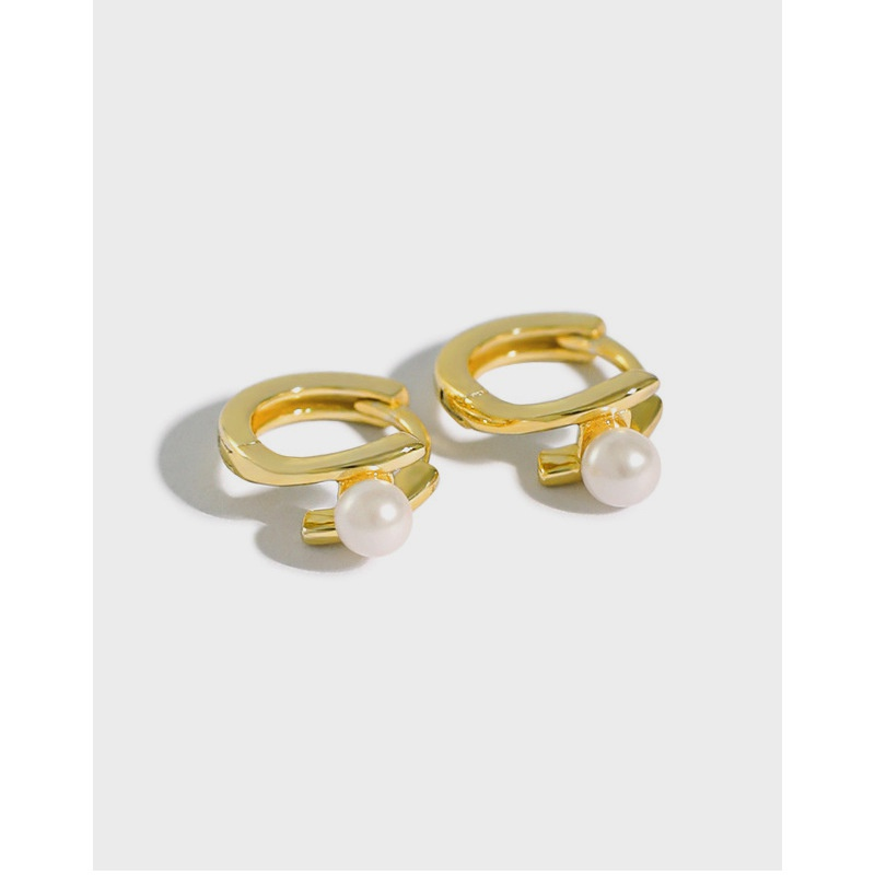 Korean style simple micro inlaid bead ear buckle NHFH368537