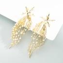 exaggerated design star meteor shower diamond earrings  NHLN368612