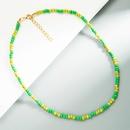 Bohemian handmade beaded short necklace wholesale  NHLN368598