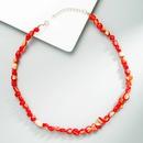 Bohemian irregular shell handmade beaded necklace  NHLN368606