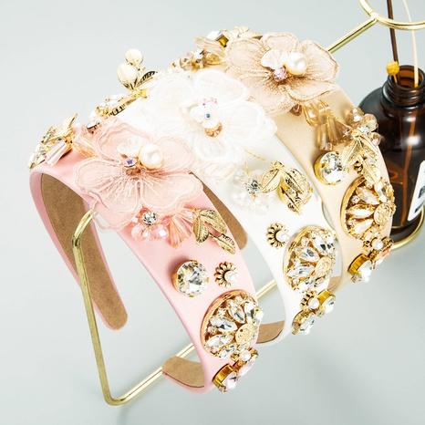 Diadema de flores de tela de diamante de cristal súper creativo de moda NHLN368618's discount tags