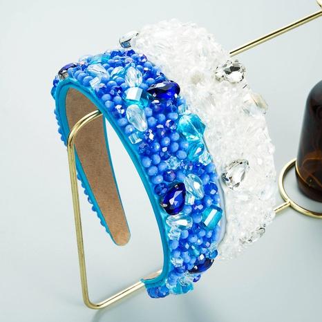 Diadema de diamantes de cristal hecha a mano de cristal blanco retro NHLN368629's discount tags