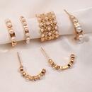 fashion geometric Cshaped no pierced pearl earrings NHNZ368664