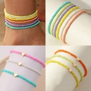 Bohemian colorful beads heart anklet set wholesale  NHNZ368671