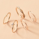 Simple Diamond Butterfly Geometric Ring Set  NHOT368793