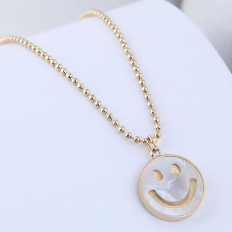 Korean Fashion Simple Smiley Titanstahl Halskette NHSC368762's discount tags