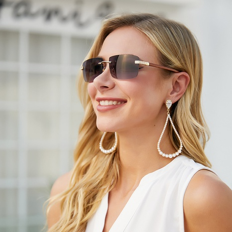 Gafas de sol recortadas sin marco de diamantes de moda NHLMO369015's discount tags