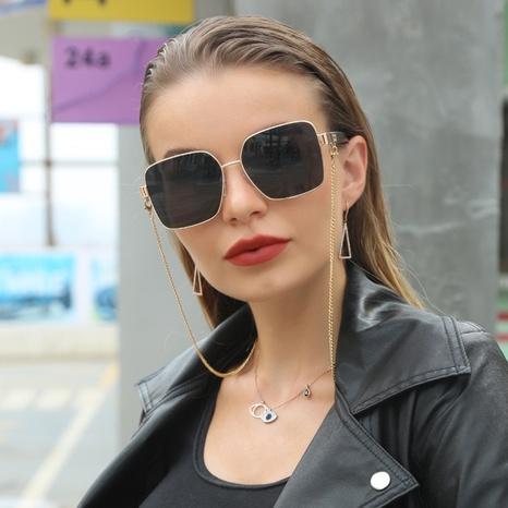 moda con gafas de sol con montura cuadrada de cadena NHLMO369020's discount tags