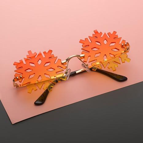 Gafas de sol sin marco con lentes de copo de nieve de moda NHLMO369024's discount tags