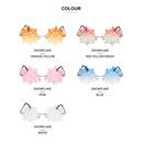 Fashion snowflake lens frameless sunglasses NHLMO369024