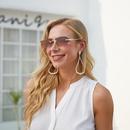 fashion geometric small box rimless sunglasse NHLMO369026