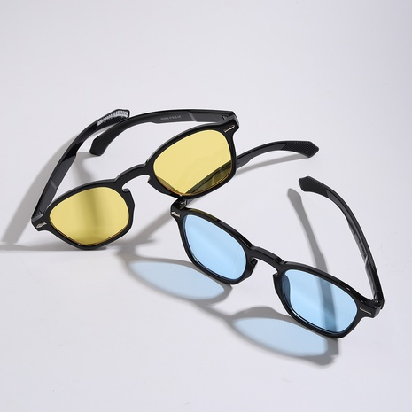 gafas de sol de remache de marco redondo retro de moda NHXU369028's discount tags