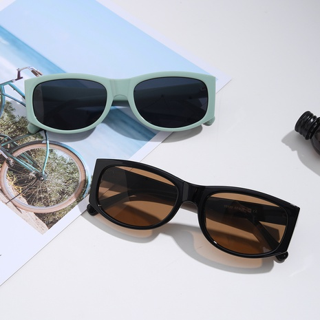 gafas de sol cuadradas retro con montura completa NHXU369029's discount tags