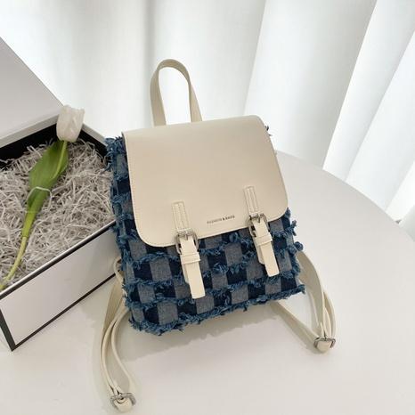 fashion hit color beggar denim backpack NHJZ369052's discount tags