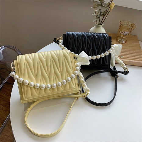 fashion pearl chain bow knot square messenger bag NHJZ369044's discount tags