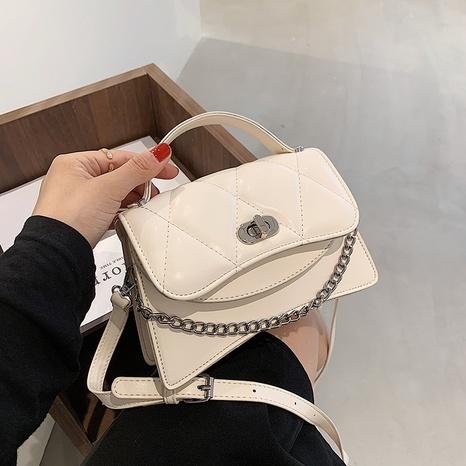 fashion rhombus metal chain lock shoulder messenger NHJZ369053's discount tags
